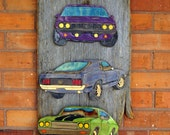 Skate Art - Puzzle Art - American Muscle Cars