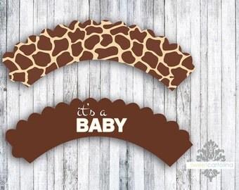 Giraffe Cupcake Wrappers