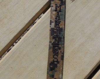 US Marines Embroidered Lanyard, Woodland Camo, Military Embroidered Lanyard, US Marine Armed Forces Lanyard