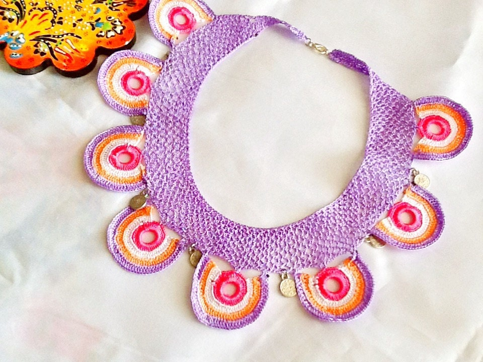 salebohemian necklace turkish crochet necklace by