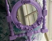 Lavender mermaid vanity mirror
