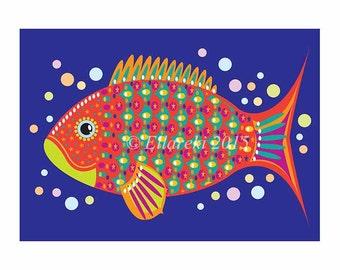 Fat Fish Greeting Card