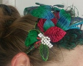 Christmas Festive Fascinator Headband Hair Ornament Holiday Fun!