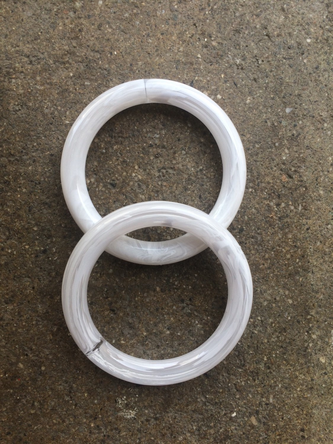 1 dz hard plastic 3 inch rings for arts and crafts by