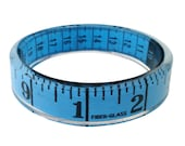 Blue Measuring Tape Bangle Bracelet Sewing Theme