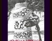 Cowichan White Buffalo Wool  Flower Design Sweater Knitting Pattern Vintage 1970's Sizes 30 - 44 on Etsy