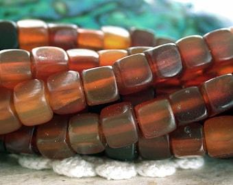 6/7mm Horn Beads, Golden Horn Cube Beads, Gold Horn Beads, Natural Undyed Beads, Recycled Beads NAT-003