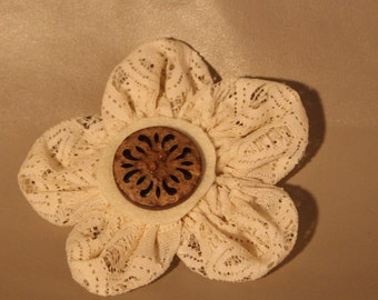 Brooch...Off White Lace