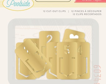 50% Off - Crate Paper Poolside -  Metal Clips -- MSRP 4.00