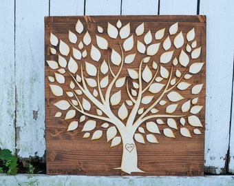 Guest Book Alternative, Family Tree, Family and Friends, Wedding Tree
