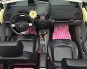 Car Mats Chevron Personalized Monogrammed Floor Car Mat Initial Rose Pink Roses Preppy