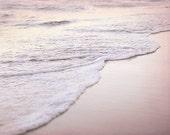 Pink Beach Photography, Sunset Photograph, Ocean Picture, Lake House Decor, Romantic Artwork, 11x14 Art Print, Summer Wall Art, Coastal Art