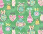 Blend Fabrics - Vintage Noel - Vintage Ornament - Green