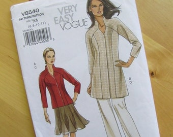 Uncut Vogue Sewing Pattern 8540 - Misses Jacket, Skirt and Pants - Size 6-12