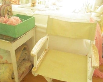 Shabby chic vintage chippy painted original white  chair  chair chippy shabby chic  prairie