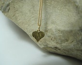 Tiny Gold Heart Necklace, 14K Gold Filled, Minimalist Dainty Charm Pendant