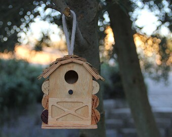 Little Barn Birdhouse, wine cork art