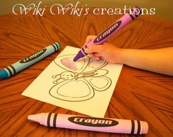 Large Plush Felt Crayon- Pick your color