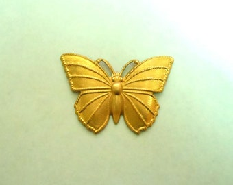 Golden Butterfly Brooch OOAK