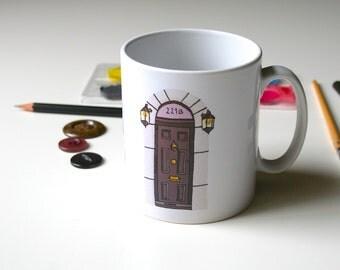 221B Baker Street Mug Sherlock Holmes Mug Geeky Mug