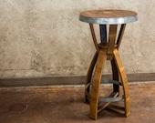 "The ""Snap"" Wine & Bourbon Barrel Pub Tables (Red, Burgundy, Black, Oak, Round Tables)"