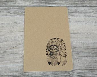 Native American Chief Lined Journal Notebook Planner