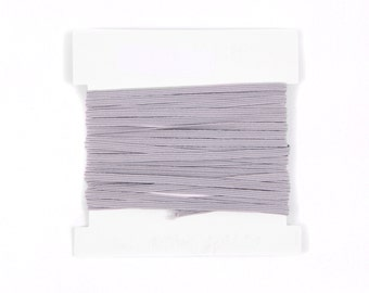 Elastic, 1/8th inch flat elastic for DIY Making Baby Headbands, skinny elastic - 5, 10, or 20 yard bundles - SILVER