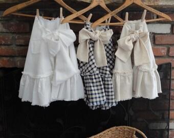 Tan (Oatmeal) Christmas Tree Skirt French Country Decor Rustic Christmas  READY TO SHIP