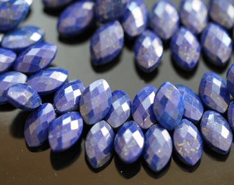 Lapis Lazuli Faceted Marquise Briolettes, 12 - 13 mm, Half Strand, 22 beads GM1901FM/12