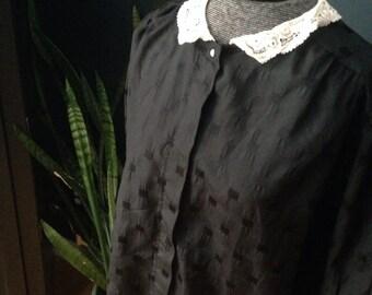 Black top with peter pan collar