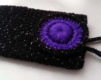 Crochet Cell Phone Cover - Crochet Phone Pouch - Mobile Phone Covers - FREE UK delivery