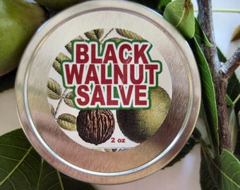 Black Walnut Salve  You choose size 2 oz/60 g or 4 oz/120 g