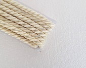 Twisted cord, 1.1 yard ivory , 10 mm satin twist cord, knot rope, Wrapped Thread Cord, Decoration,Fabric Rope Trim Accent for Crafting