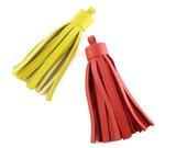 Medium Leather Tassel | Handbag Accessory | Fringe | Cowhide Leather | Keychain | Keyfob | Handmade