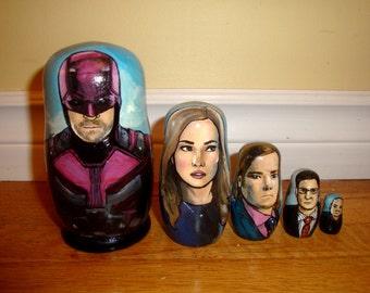Set of Five Daredevil Nesting Dolls