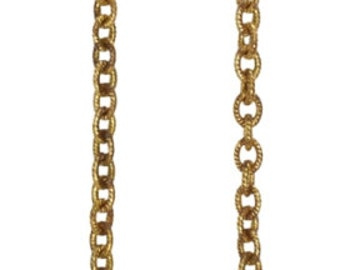 Vintaj 4mm Petite Etched Cable Chain Necklace - 18 inch
