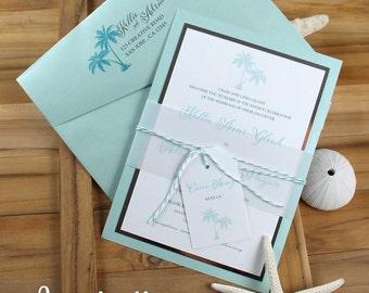 Palm tree invitation | Etsy