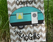 Monogrammed Garden Flags - Great for home or travel - Happy Camper Flags - Customize your Lettering/Saying