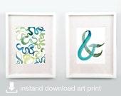 Sea Breeze Duo - Digital Download Printable Watercolor Art