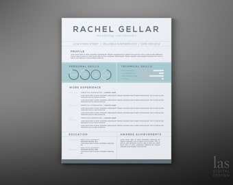 Resume CV Design // Resume Template // Cover Letter Template // Instant Download Word Template