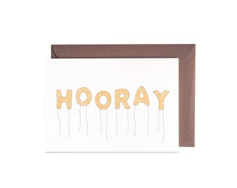 HOORAY Congratulations Illustrated Greeting Card