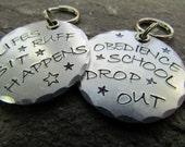 Aluminum Dog Tag - Wacky Pet Tag - Dog Collar Tag - ID Tag - Custom Pet Tag - Personalized Pet Tag - Aluminum Pet ID Tag - Handmade