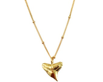 """Satellite Cast Shark Tooth Necklace 18"""""""