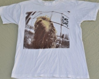 "1993 Pearl Jam European Tour ""Vs."" Why Are Sheep Afraid? T-Shirt Size Large 90's Alternative Grunge Tee Shirt"