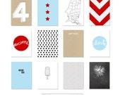 Digital Journal Cards - Happy Fourth