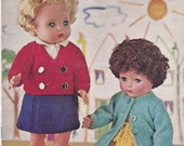 1950's Vintage  Templetons Doll's Clothes Knitting Pattern book - Original Pattern - 16 inch Doll