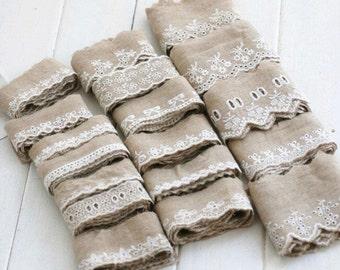 2 Yard Cotton Lace Trims, Embroidery,Vintage Style, Beige Color,Floral,European Royal Texture,Cotton(YL89)
