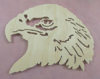 Eagle head cutout ready to finish