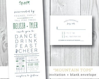 Mountain Tops Wedding Invitations