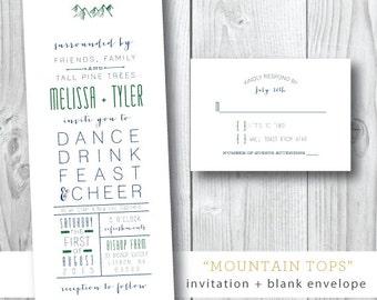 Mountain Tops Wedding Invitations